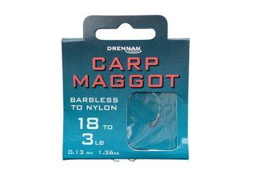 Drennan Hooks to Nylon Barbless - Carp Maggot