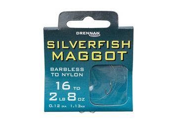 Drennan Hooks to Nylon Barbless - Silverfish Maggot
