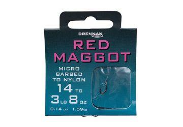 Drennan Hooks to Nylon Barbed - Red Maggot