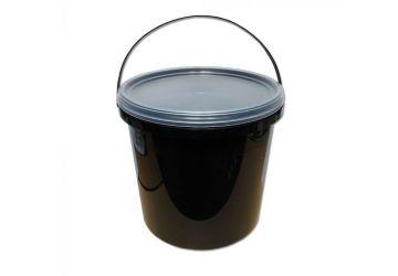 Lemco 5L Black Bucket with Translucent Lid