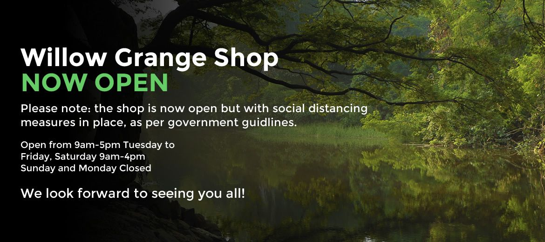 Willow Grange Shop is now open!
